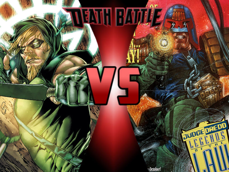 Green Arrow Vs Judge Dredd By Toxicmouse77-db2mh30 by ToxicMouse77