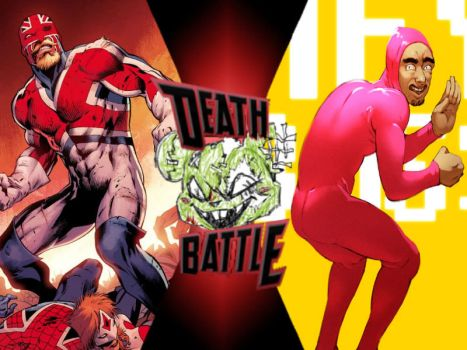 Captain Britain Vs Pink Guy By Toxicmouse77-db63p8 by ToxicMouse77