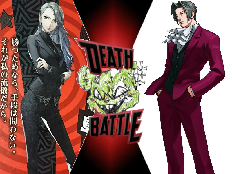 Sae Nijima vs Miles Edgeworth by ToxicMouse77