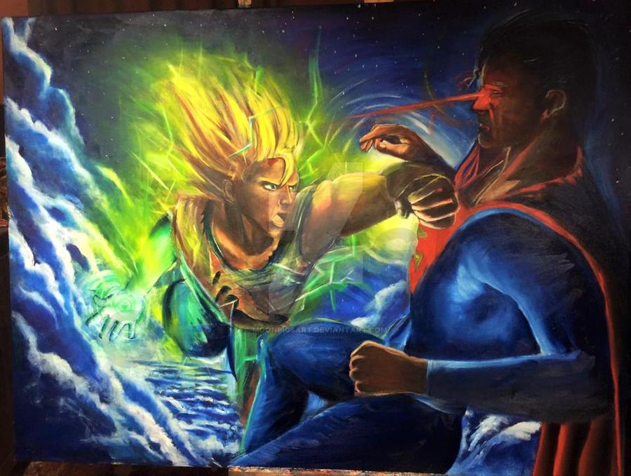 goku vs superman by MoonpigsART on DeviantArt
