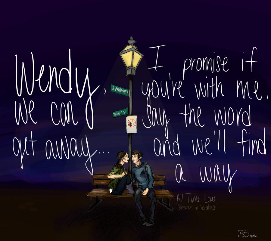 Somewhere In Time Quotes: Somewhere In Neverland All Time Low Quotes. QuotesGram