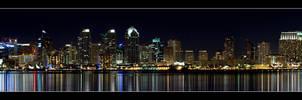 San Diego at Night by HippySpawn