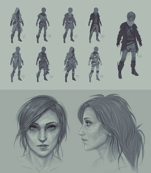 Into Dust Character Concepts - Bryn