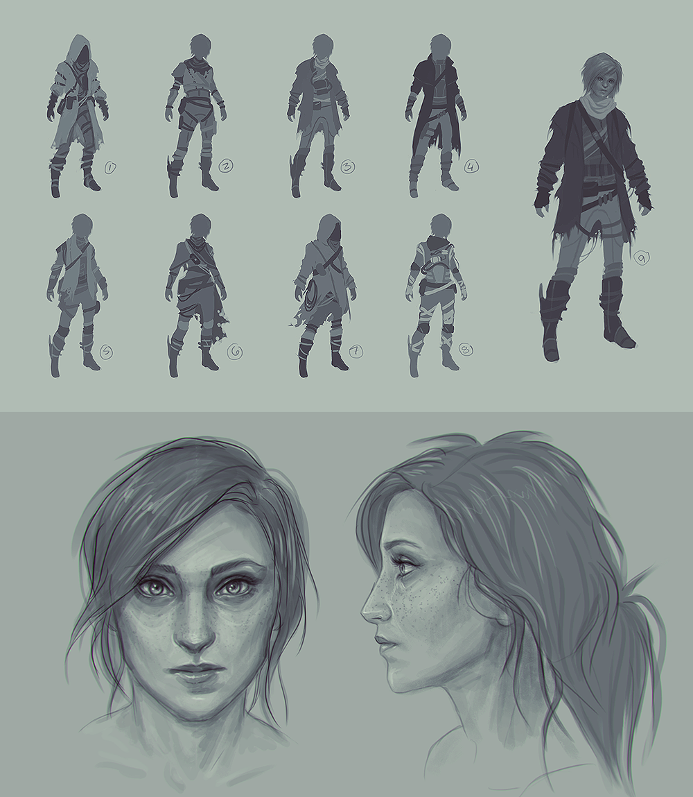 Into Dust Character Concepts - Bryn by velocitti