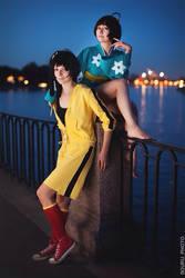 Nisemonogatari - Two Girls by Muffin-Kiki