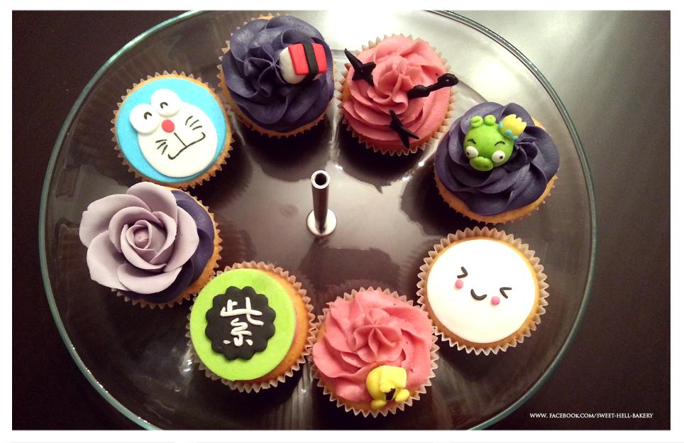 Cupcakes variados by kytxu