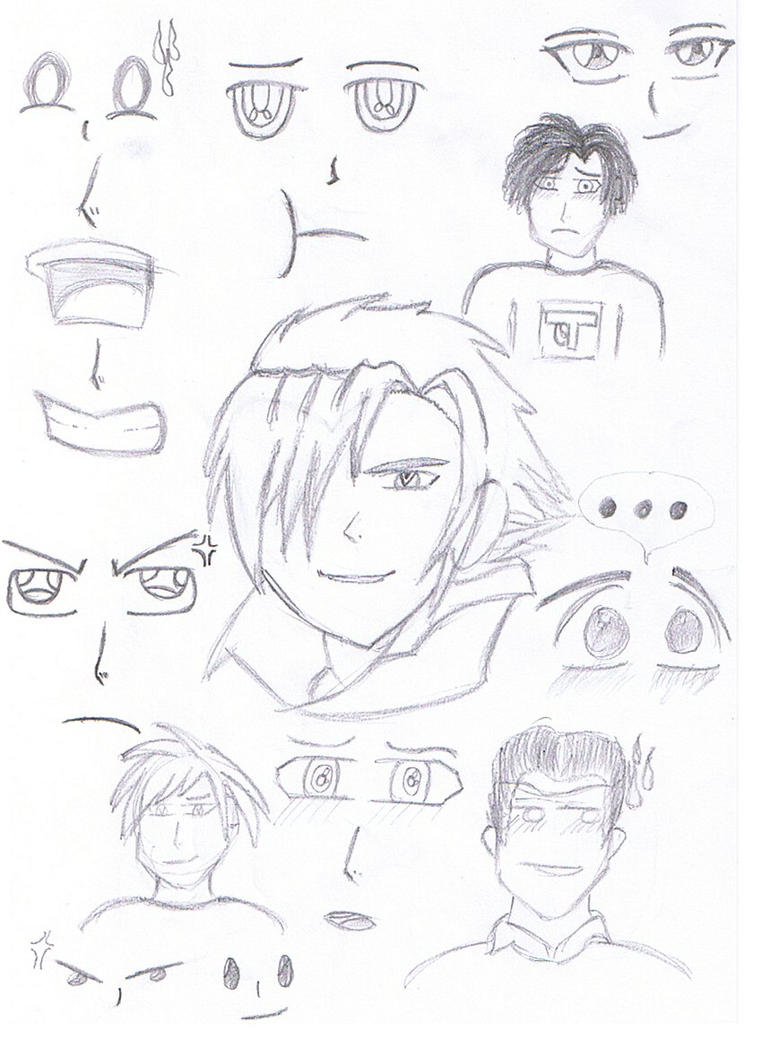 Anime Facial Features Sketch 6 By Cannonfodder90 On DeviantArt