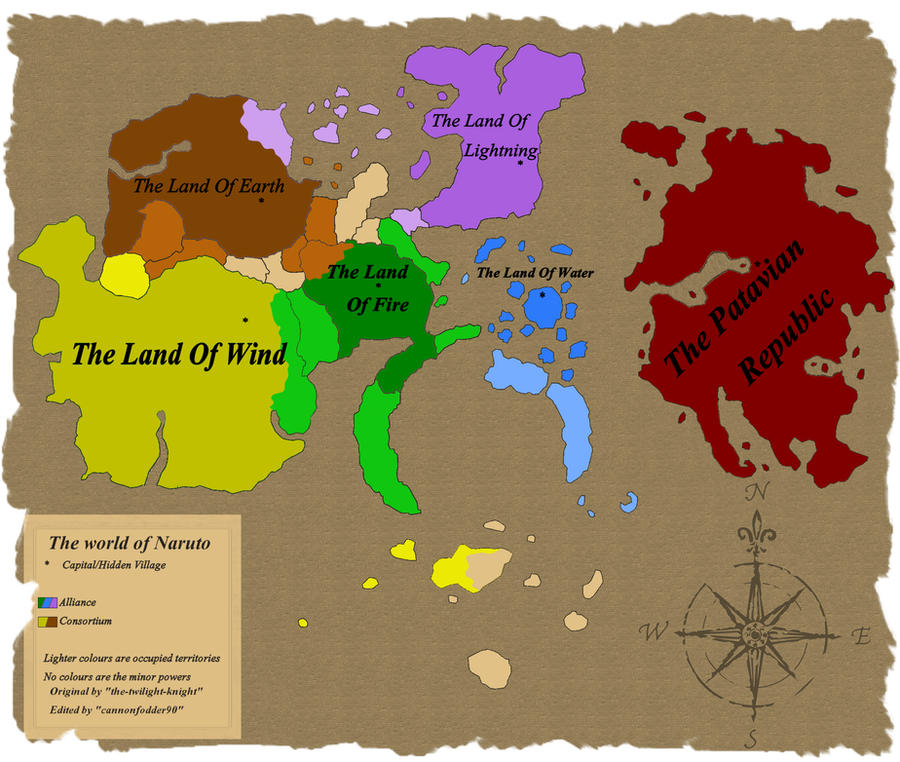map of naruto world
