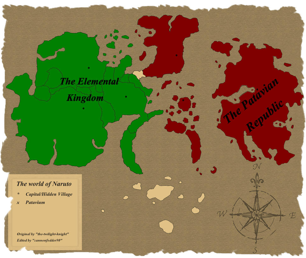Anime Word: Naruto World Map For First Citizen Naruto VII By