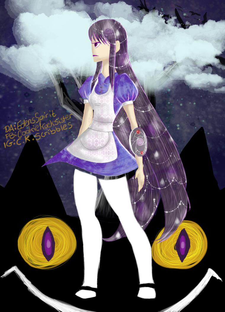 Homura in Wonderland by EdensSpirit