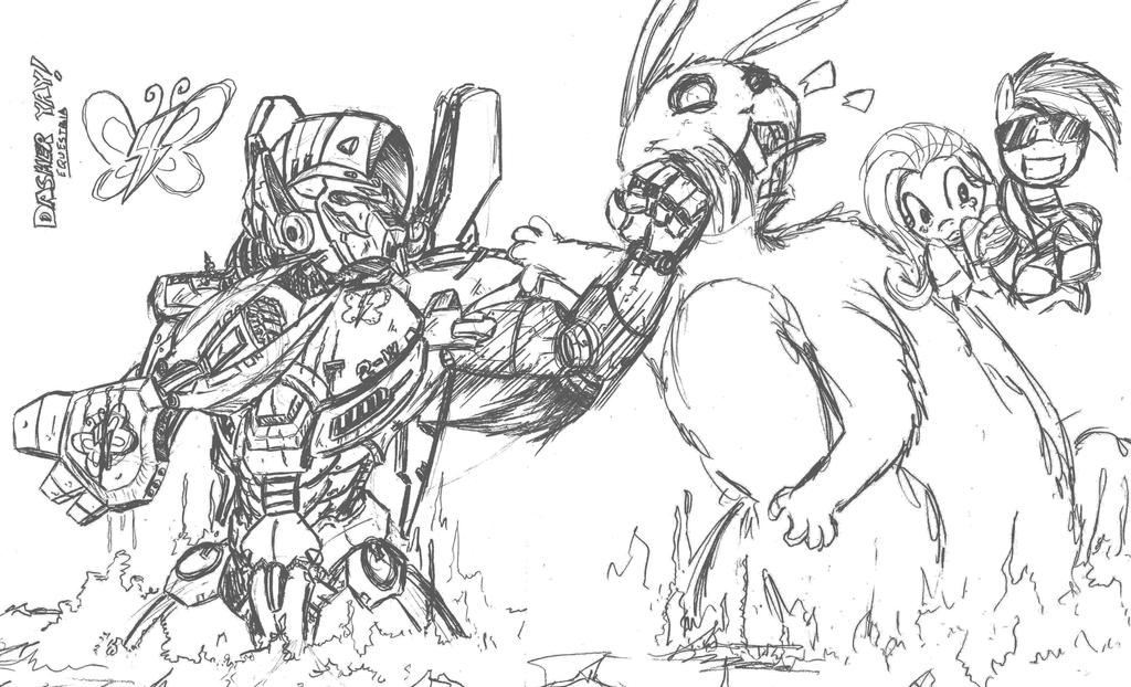how to draw flying monster step by step pacific rim