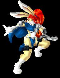 Warrior Rabbit Nbg by Vermillon-Loup