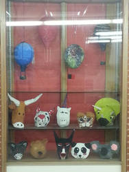 Student Paper Mache Display by tcstudios