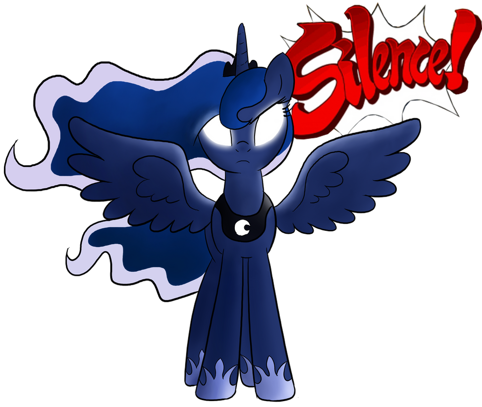 Princess Luna (SILENCE!) by TheAljavis