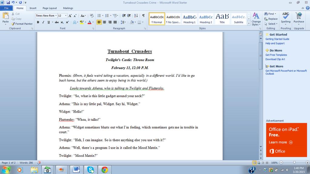 Writing Turnabout Crusaders.... (WIP) by TheAljavis