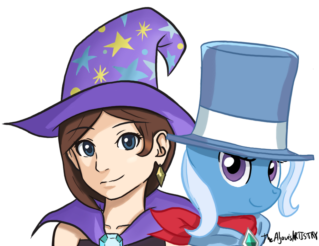 The Great and Powerful Ones  (Trucy and Trixie ) by TheAljavis