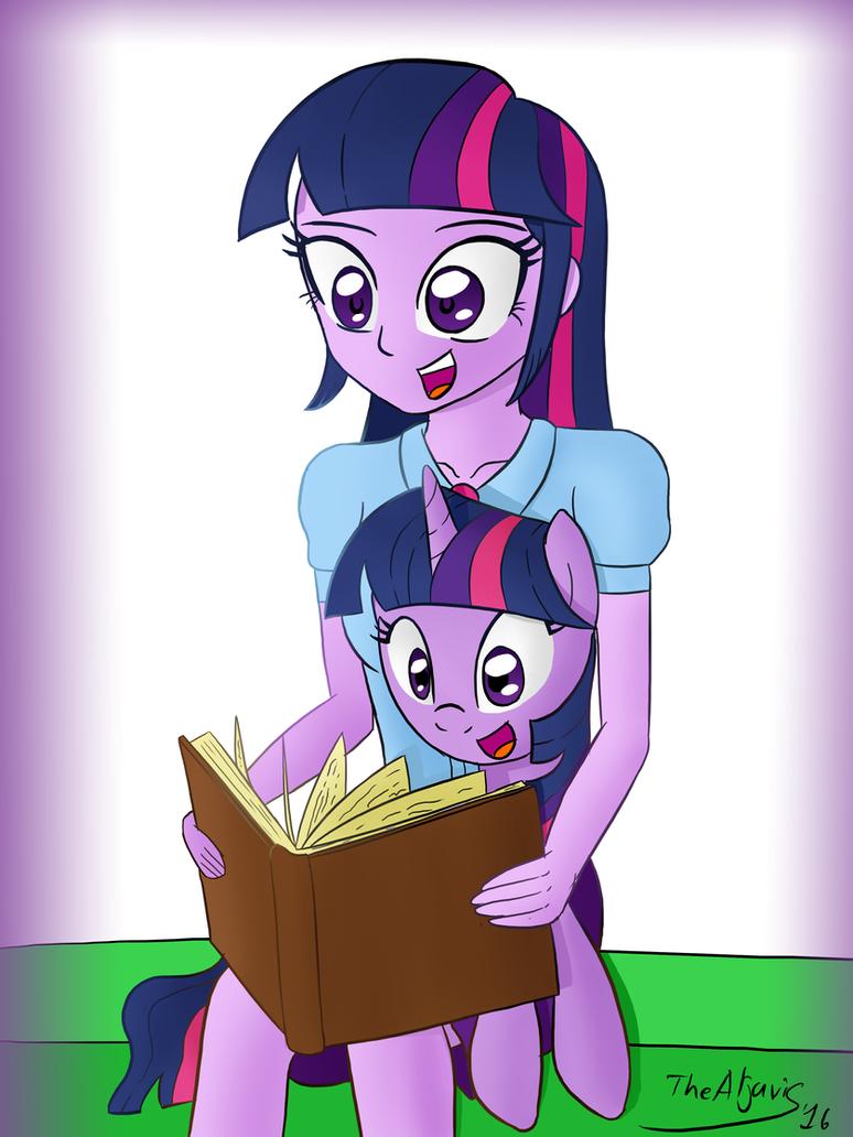 EQG Twi and Pony Twi #1 by TheAljavis
