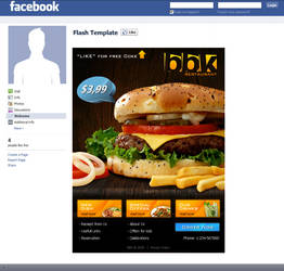 Fast food Facebook template
