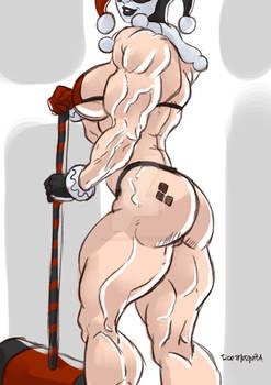 Huge muscle - Harley Quinn