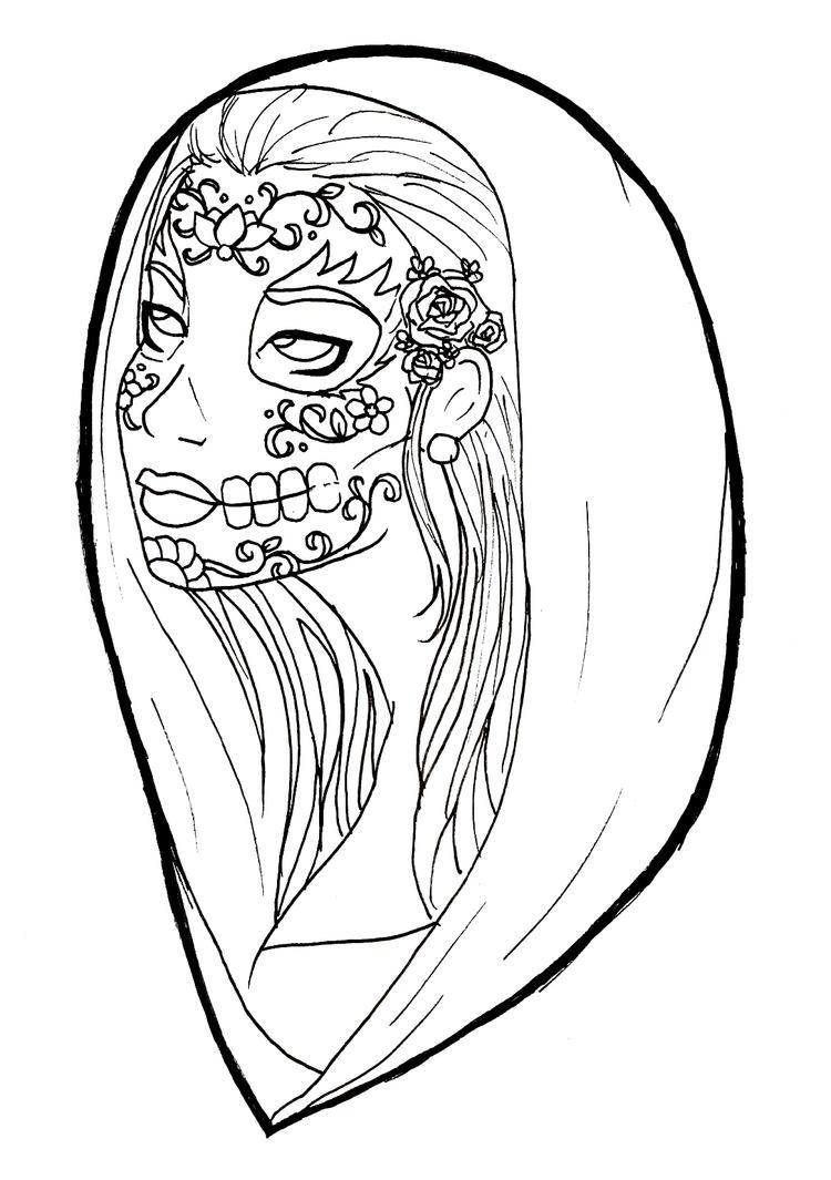 la santa muerte coloring pages - photo #4