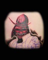 Samurai close up by tattookollin