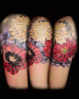 flowers by tattookollin