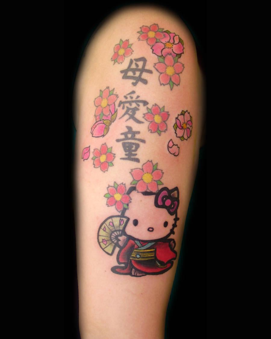 hello kitty by tattookollin