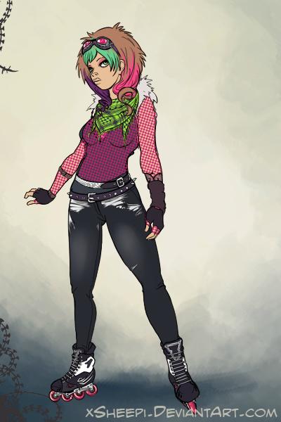 Resultado de imagem para roller skater punk girl