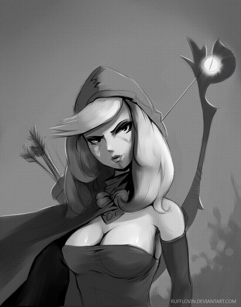 Drow Ranger :) by Rufflovin