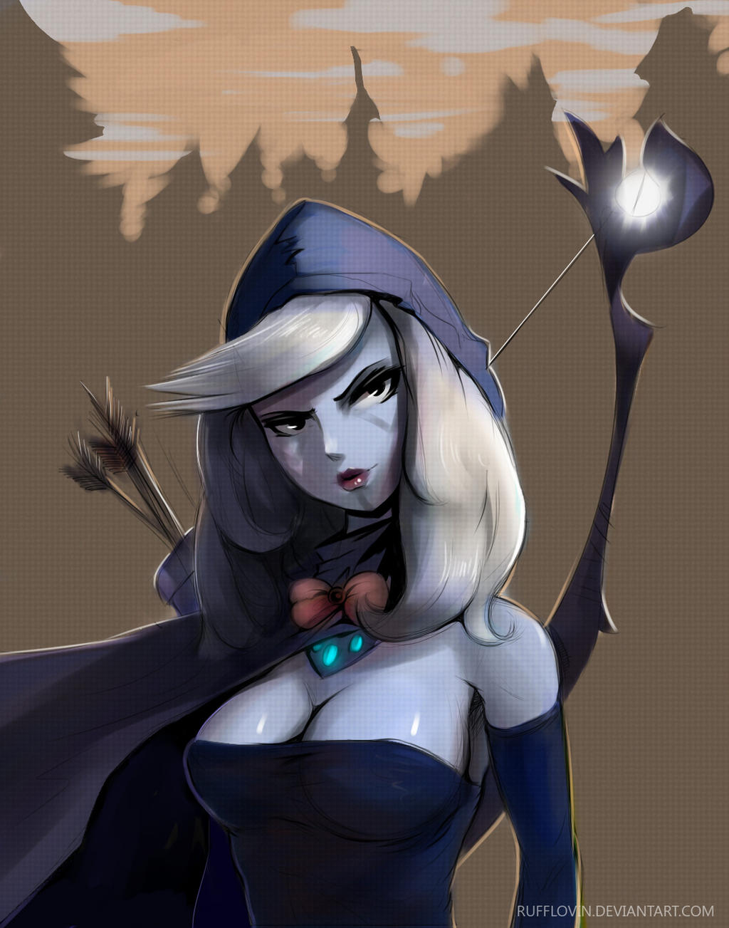 Colored Drow Ranger by Rufflovin