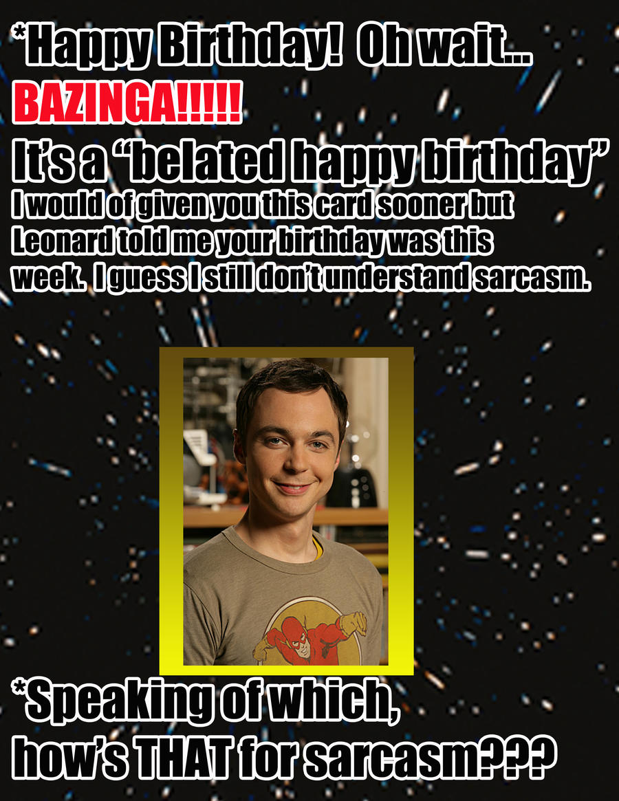 Big Bang Theory Birthday Card gangcraftnet – Big Bang Theory Birthday Card