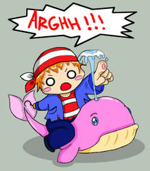 Steef on his P.I.M.P whale XD