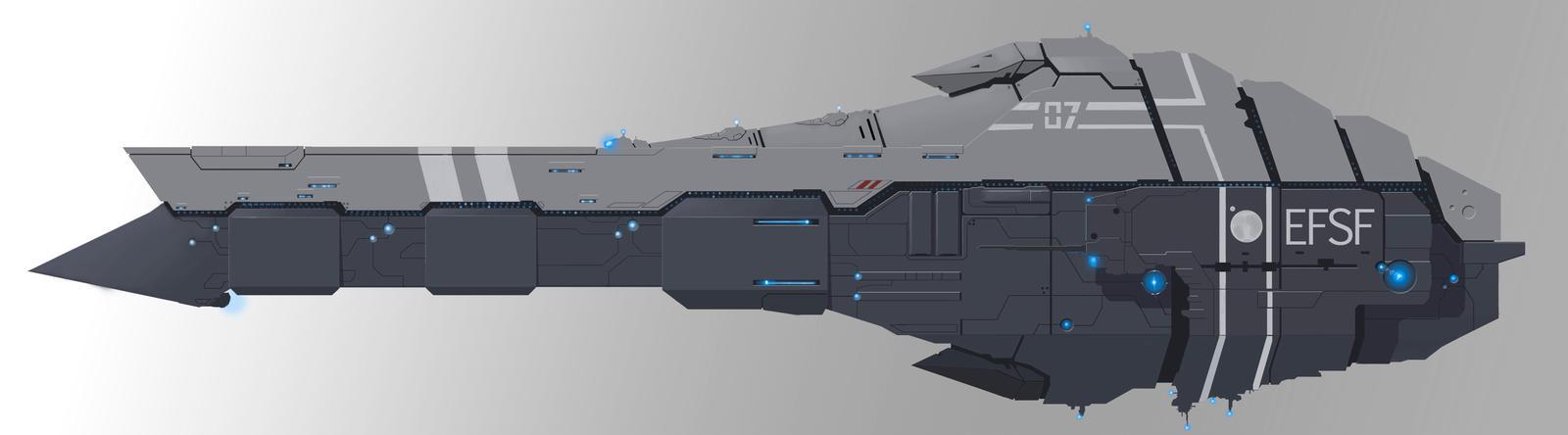 EFSF Battleship by Ivkol