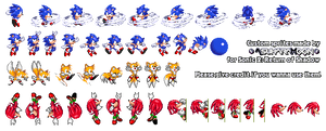 Sonic 2: Return of Shadow - Custom Sprites Sheet