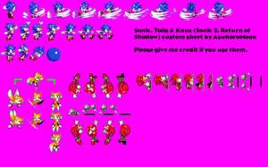 Sonic 2: Return of Shadow - Custom Sprite Sheet by AsuharaMoon