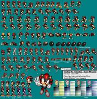 Shadow The Hedgehog (Sonic Megamix) Sprite Sheet by AsuharaMoon