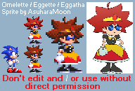 Sonic Mania: Custom Omelette Sprite - S3K Style by AsuharaMoon