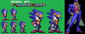 [Sprite] Sonic the Hedgehog as Jotaro Kujo by AsuharaMoon