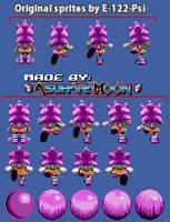 [Custom Sprites] Amy Rose (S.S.) - Knux' Chaotix by AsuharaMoon