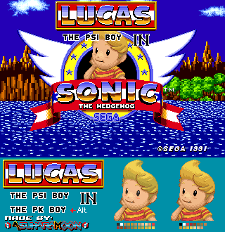[Custom Mockup] Lucas in Sonic the Hedgehog (1) by AsuharaMoon