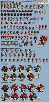 Shadow in Sonic 1 - Sprite Sheet and Release