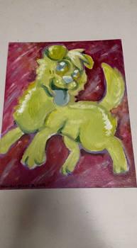 Acrylic Dog by TenguHarley