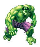 Incredible Hulk illustration