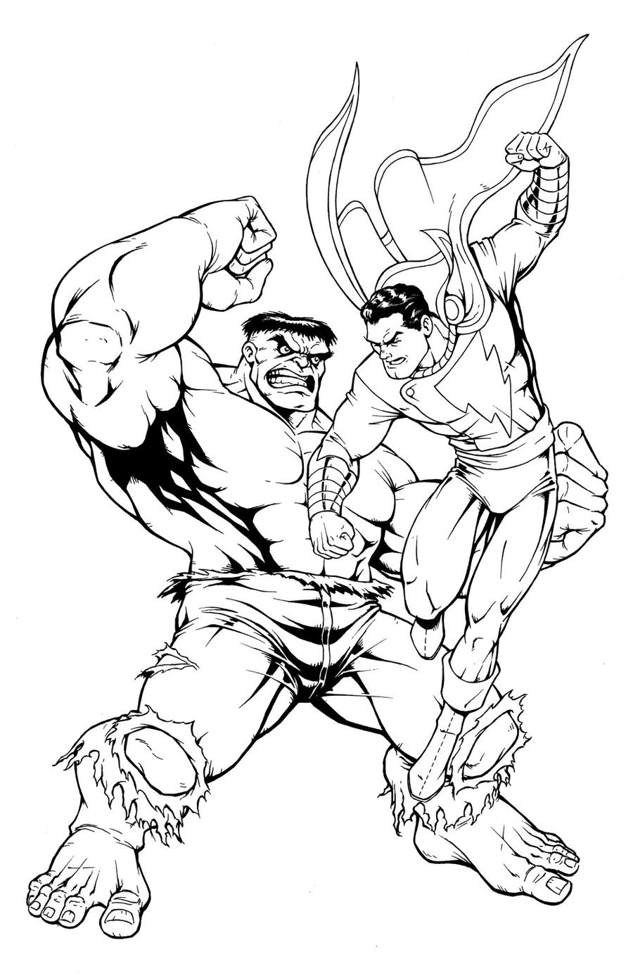 Shazam Dc Art Drawing Sketch Coloring Page