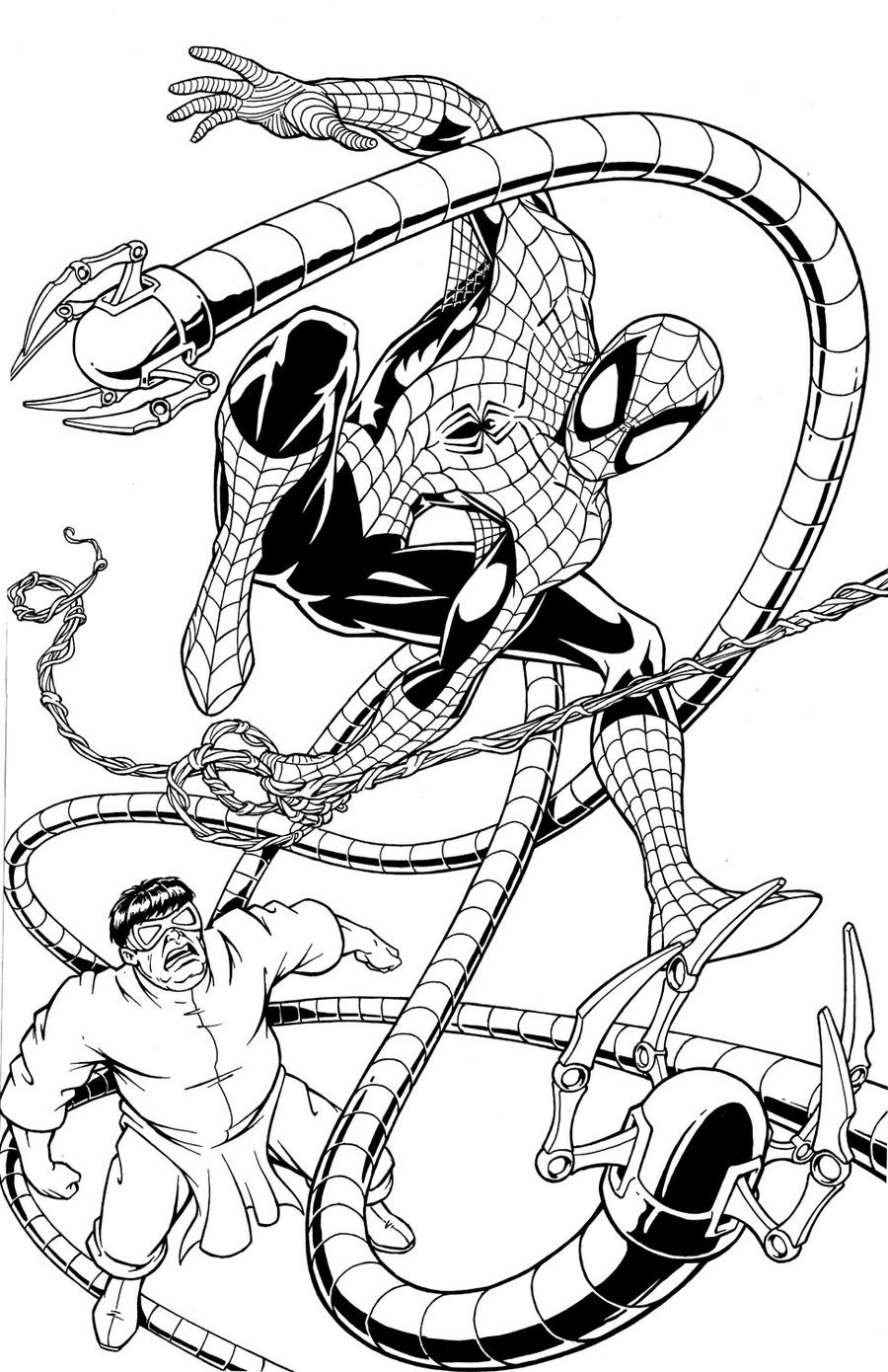Spider Man Vs Doctor Octopus By Wolfehanson On Deviantart Doc Ock Coloring Pages