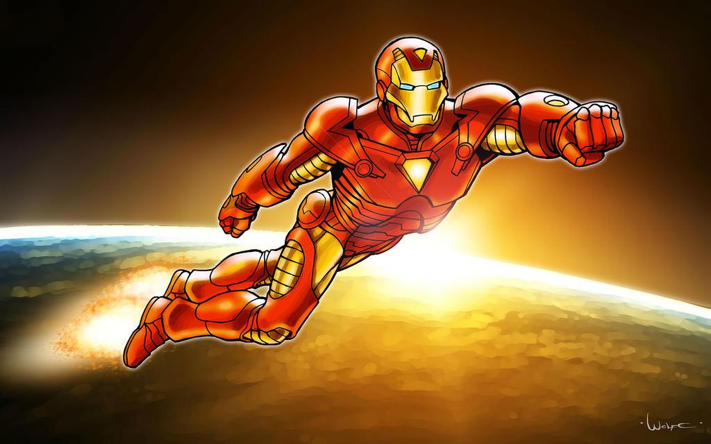 Iron Man coloring test