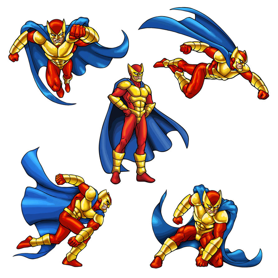 Super Character Design Poses Pdf : Super hero poses vector by wolfehanson on deviantart