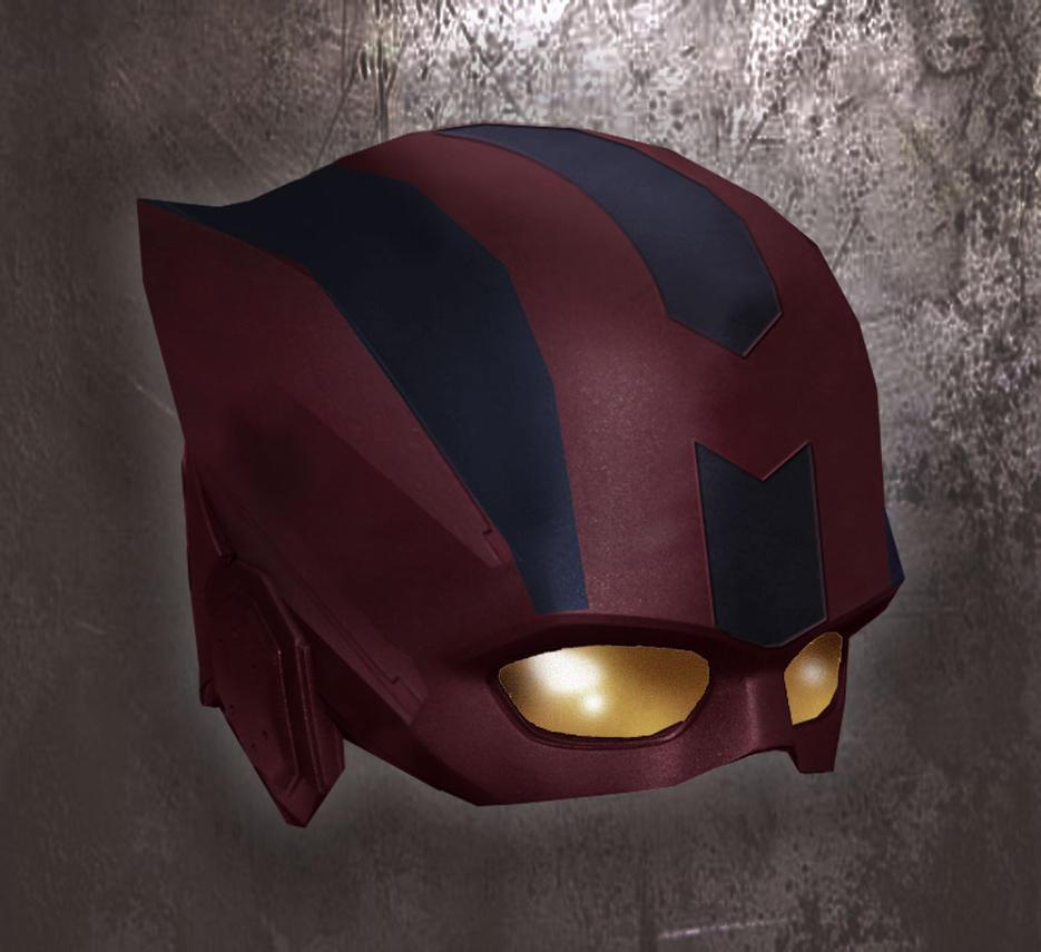 Avengers Hawkeye helmet concept by WolfeHanson