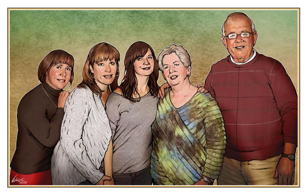 Portrait of a friend's family by WolfeHanson