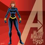 Vector Vengers: Black Widow (70's Champions)